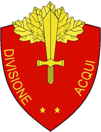Coat of arms (crest) of the Division Acqui, Italian Army