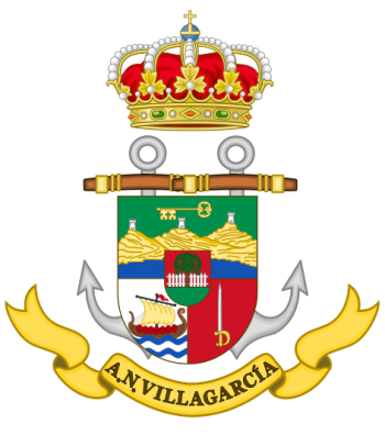 Coat of arms (crest) of the Naval Assistantship Villagarcia, Spanish Navy