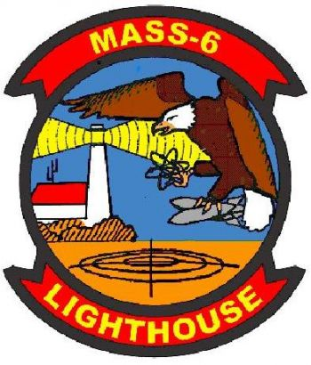Coat of arms (crest) of the MASS-6 Lighthouse, USMC