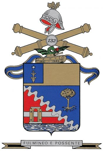 Coat of arms (crest) of the 132nd Heavy Field Artillery Group Rovereto, Italian Army