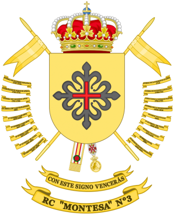 Coat of arms (crest) of the Cavalry Regiment Montesa No 3, Spanish Army