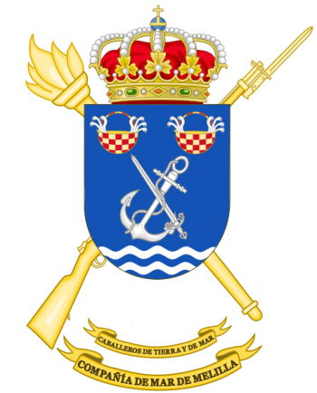 Coat of arms (crest) of the Melilla Sea Company, Spanish Army
