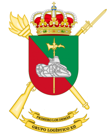Coat of arms (crest) of the Logistics Group XII, Spanish Army