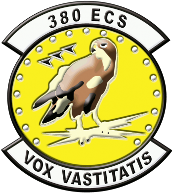 Coat of arms (crest) of the 380th Expeditionary Communications Squadron, US Air Force