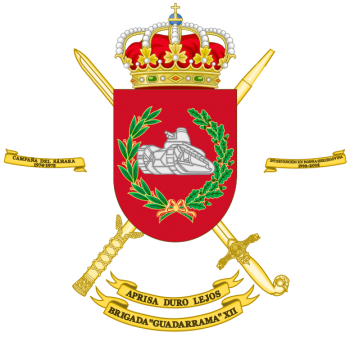 Coat of arms (crest) of the Brigade Guadarrama XII, Spanish Army
