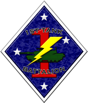 Coat of arms (crest) of the 1st Tank Battalion, USMC