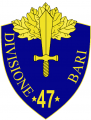 47th Infantry Division Bari, Italian Army.png