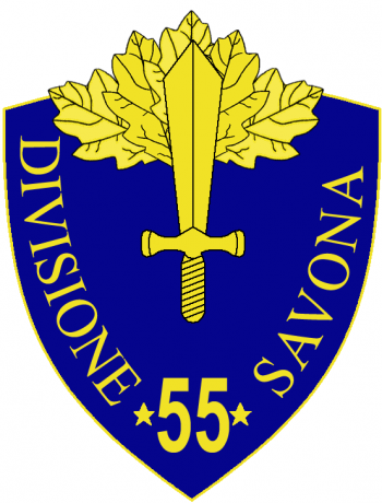 Coat of arms (crest) of the 55th Infantry Division Savona, Italian Army