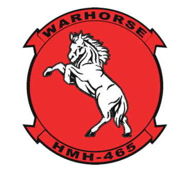 Coat of arms (crest) of the HMH-465 Warhorse, USMC