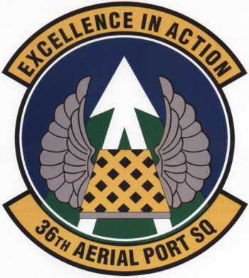 Coat of arms (crest) of the 36th Aerial Port Squadron, US Air Force