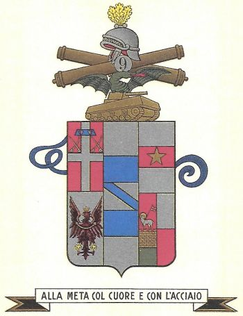 Coat of arms (crest) of the 9th Anti-Armour Artillery Regiment, Italian Army