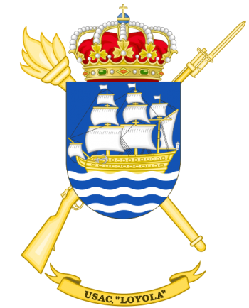 Coat of arms (crest) of the Barrack Services Unit Loyola, Spanish Army