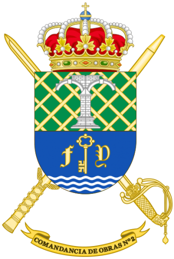 Coat of arms (crest) of the 2nd Construction Command, Spanish Army