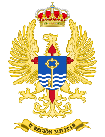 Coat of arms (crest) of the II Military Region, Spanish Army