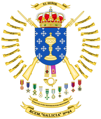 Coat of arms (crest) of the Mountain Rifle Regiment Galicia No 64, Spanish Army