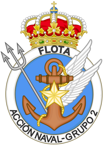 Coat of arms (crest) of the 2nd Naval Action Group, Spanish Navy