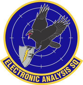 Coat of arms (crest) of the Electronics Analysis Squadron, US Air Force