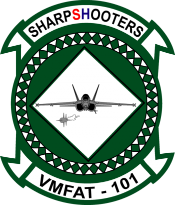 Coat of arms (crest) of the Marine Fighter Attack Training Squadron (VMFAT)-101 Sharpshooters, USMC