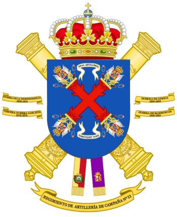 Coat of arms (crest) of the 11th Field Artillery Regiment, Spanish Army