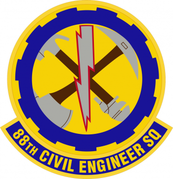 Coat of arms (crest) of the 88th Civil Engineer Squadron, US Air Force