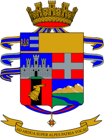 Coat of arms (crest) of the Vicenza Alpini Battalion, Italian Army