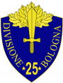 25th Infantry Division Bologna, Italian Army.png