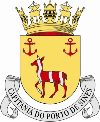 Coat of arms (crest) of the Harbour Captain of Sines, Portuguese Navy