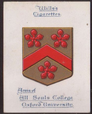 Arms of All Souls College (Oxford University)