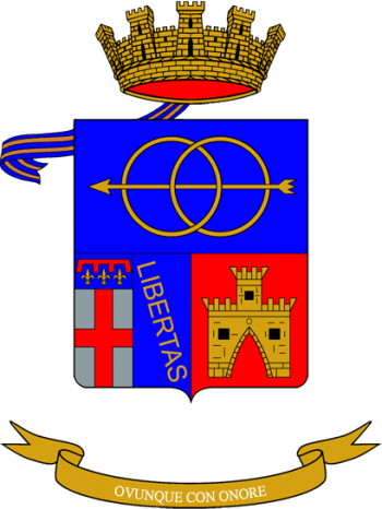Coat of arms (crest) of the 6th Transport Regiment, Italian Army