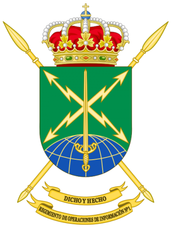 Coat of arms (crest) of the Information Operations Regiment No 1, Spanish Army