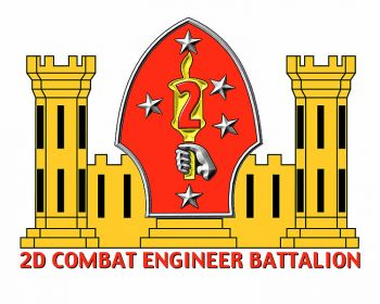 Coat of arms (crest) of the 2nd Combat Engineer Battalion, USMC