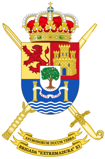 Coat of arms (crest) of the Brigade Extremadura XI, Spanish Army