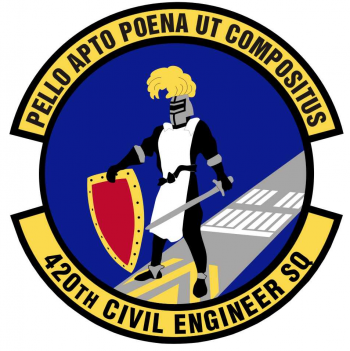 Coat of arms (crest) of the 420th Civil Engineer Squadron, US Air Force