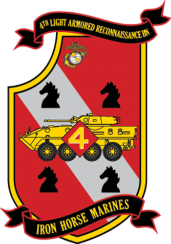 Coat of arms (crest) of the 4th Light Armored Reconnaissance Battalion, USMC