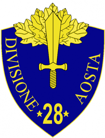 Coat of arms (crest) of the 28th Infantry Division Aosta, Italian Army