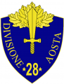 28th Infantry Division Aosta, Italian Army.png