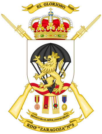 Coat of arms (crest) of the Infantry Regiment Zaragoza No 5, Spanish Army