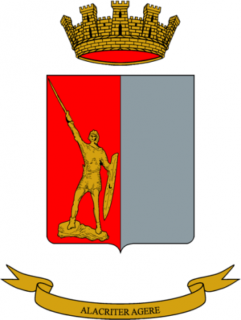 Coat of arms (crest) of the Legnano Logistics Battalion, Italian Army