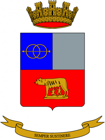 Coat of arms (crest) of the 8th Transport Regiment, Italian Army