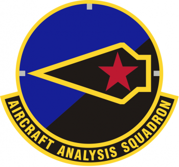 Coat of arms (crest) of the Aircraft Analysis Squadron, US Air Force