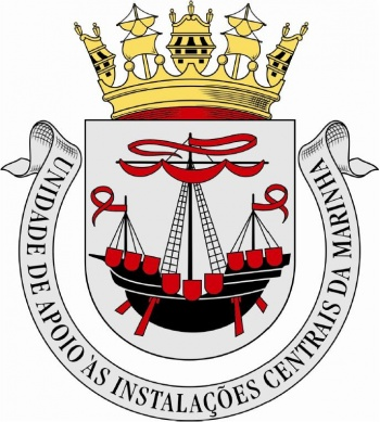 Coat of arms (crest) of the Central Naval Installations Support Unit, Portuguese Navy