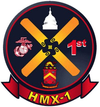 Coat of arms (crest) of the Marine Helicopter Squadron (HMX)-1 Marine One, USMC