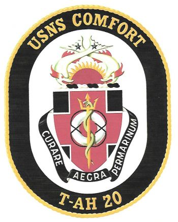 Coat of arms (crest) of the Hospital Ship USNS Comfort (T-AH-20)