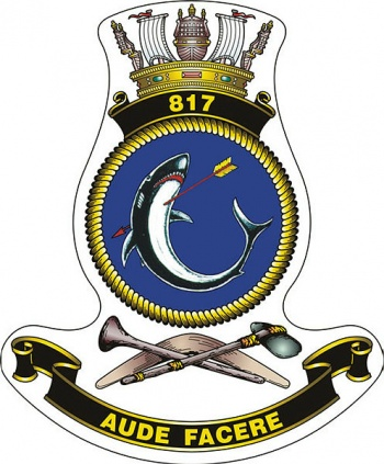 Coat of arms (crest) of the No 817 Squadron, Royal Australian Navy