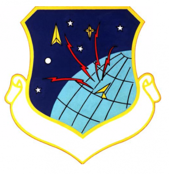 Coat of arms (crest) of the Space Communications Division, US Air Force