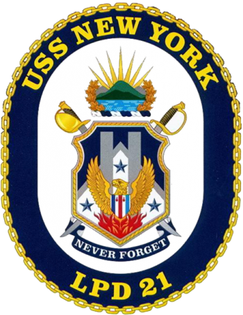 Coat of arms (crest) of the Ampibious Transport Dock USS New York (LPD-21), US Navy