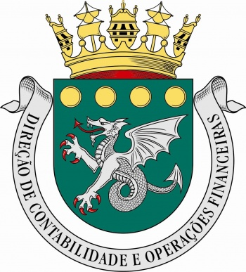 Coat of arms (crest) of the Directorate of Contability and Financial Operations, Portuguese Navy