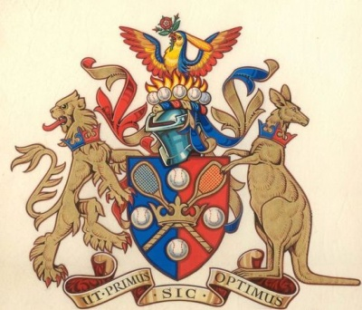 Arms of Royal Melbourne Tennis Club