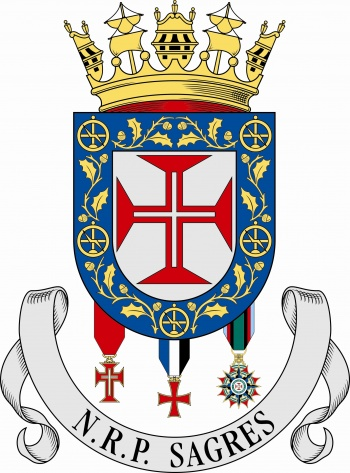 Coat of arms (crest) of the Sail Training Ship NRP Sagres, Portuguese Navy