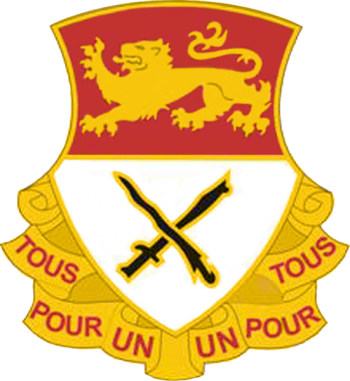Arms of 15th Cavalry Regiment, US Army